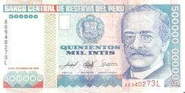 Peru 500000 Intis - Perù