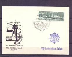 D.D.R. - VEB Fischkombinat - Sassnitz 9/11/71     (RM11738) - Fishes