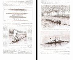 LES EXERCICES PHYSIQUE  ( LE CANOTAGE Ou L'AVIRON  ) 1892 - Aviron