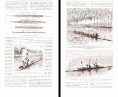 LES EXERCICES PHYSIQUE  ( LE CANOTAGE Ou L'AVIRON  ) 1892 - Rowing