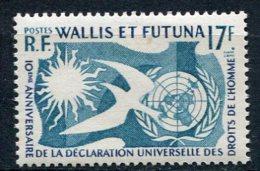 WALLIS -  Yv. N°  160   *   Droits De L'Homme  Cote  4,6 Euro  BE R  2 Scans - Wallis E Futuna