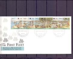 Christmas Island -  The First Fleet - FDC - 26/1/1988  (RM11962)
