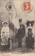 """1913 Chambley  - Mars La Tour """" Fidèles Gardiens De La Frontière """" Drapeau Commune De Batilly ( Vers Germigny ) - Vigneulles Les Hattonchatel"""