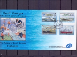 South Georgia - Fisheries - FDC 1/5/2008  (RM12013) - Poissons