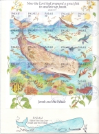 Palau -  Jonah And The Whale - FDC -  28/12/1993   (RM12035)