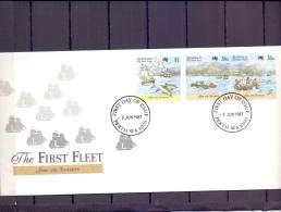 Australie - The First Fleet - FDC - Perth 3/6/1987  (RM12064)