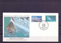 """Marshall Islands -  Fisheries Patrol Vessel """"Cape Corwin"""" - FDC - Majuro 25/9/1995   (RM12076)"""