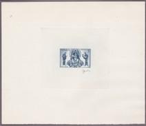 Monaco , épreuve D'artiste Signée Gandon, En Gris-bleu. Vierge En Majesté, Mosaïque Dans La Cathédrale De Monaco