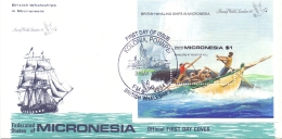 Micronesia -  British Whaleships - FDC - Kolonia , Pohnpei 3/5/1990  (RM12101)