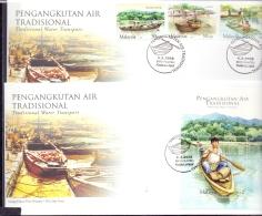 Malaysia - Traditional Water Transport - FDC - Kuala Lumpur 9/8/2005   (RM12129)