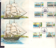 Norfolk Islands - Sailing Whaleships - FDC -  19/2/1985  (RM12130)