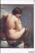 """NU_NUE_NUS_NUDE_NAKED WOMAN-NUDI ARTISTICI-""""L'Esclave"""" J.DUVOCELLE Pinxit-Original D'epoca 100%- - Pittura & Quadri"""