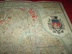 Carte Entoile  Plan De Paris Par V A . Malte / Brun  Echelle 1:12 . 800  / Imp & Grave Par Erhard  Date 1885 - Geographical Maps