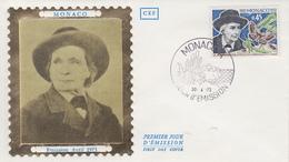 Enveloppe  FDC   1er  Jour  MONACO   Jean - Henri   FABRE   1973