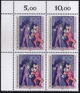 """BRD, 1992 Nr. 1626 **,  Viererblock Mit ER Oben Links, """"Bund Deutscher Amateurtheater"""""""
