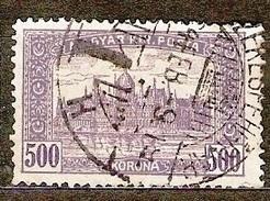 Hungary 1920 Mi 366 3x Perforation .:. Szekesfehervar