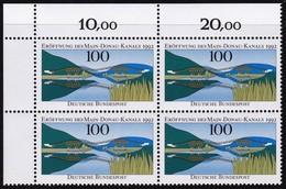 """BRD, 1992 Nr. 1630 **,  Viererblock Mit ER Oben Links, """"Eröffnung Des Main-Donau-Kanals"""""""