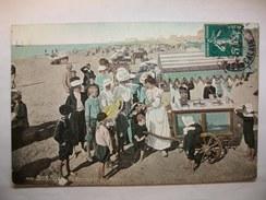 Carte Postale Berck (62) La Marchande De Glaces   (CPA Oblitérée 1911 Timbre 5 Centimes  )