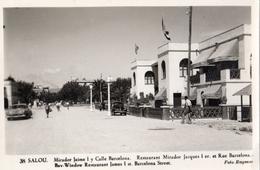 SALOU RESTAURANT MIRADOR JACQUES 1 ER ET RUE BARCELONA CARTE PHOTO