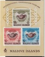 Maldive Islands 1965 Minisheet, International Co-op, Mint No Hinge, Sc# 171a