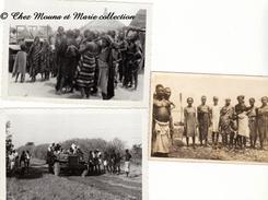 SENEGAL - VILLAGE ET HABITANTS - PLAGE - LOT DE 3 PHOTOS - Afrique