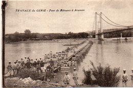 ARAMON -( Travaux Du Génie - Ponts De Bateaux A ARAMON  (95517) - Aramon