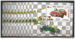 10x AJMAN - Transport - Cars - Opel Aero - CTO