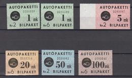 Finnland Finland Auto Paket Mi# 1-5 ** MNH - Postbuspakete