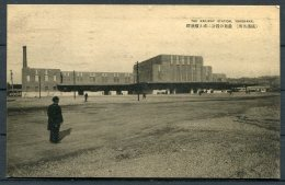 1929 Japan Yokohama Railway Station Postcard - Upper Thames Street, London