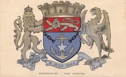 CPA 14 - ARROMANCHES - Armoiries Du Port Historique D'arromanches - Arromanches