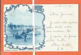 ROSENBAUM - Série DELF  PR  -  Dessin Original  - Retour De Pêche  (2) -  1901 - Vor 1900