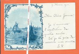 ROSENBAUM - Série DELF  PR  -  Dessin Original  -  Bateaux De Pêche  -  1901 - Vor 1900