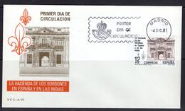 España 1981. La Hacienda De Los Borbones En España Y Las Indias. Primer Dia. - FDC