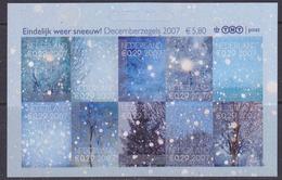 Nederland 2007 Decemberzegels Sneeuw 10w Zelfklevend ** Mnh (34991) @ Face Value - Neufs