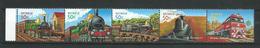 Australia 2004 The 150th Anniversary Of Railways In Australia.Trains.Locomotives.Transportation.strip Stamps.MINT/MNH