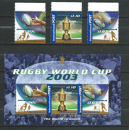 Australia 2003 Rugby World Cup.sport.S/S And Stamps.MNH