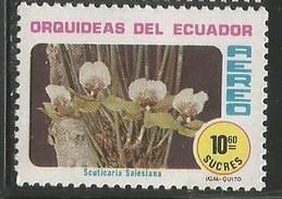 1980 Ecuador Orchid Stamp  MNH