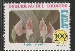 1980 Ecuador Orchid Stamp 100 Sucres MNH