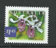 Australia 2003 Nature Of Australia - Rainforests - Blue Orchid.Flora/Flowers/Orchids.MNH