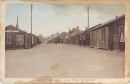 """50 - LESSAY - Place Du Marché. (Hotel De Normandie """"Le Normandy"""") Voir état - Autres Communes"""