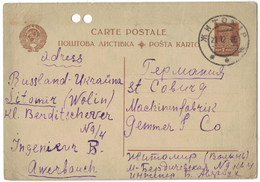 TI94       RUSSIA, URSS - Ukraina  Zytomyr 1926 - Stationery Card  Entier Postal - 1923-1991 USSR