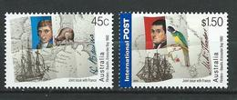 Australia 2002 Joint Issue With France.Kangaroo, Parrot.map.boat.ships.MNH