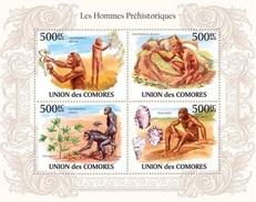 873 HOMMES PREISTORIQUES  COMORES MF SHEET BLOCK NEUF MINT **