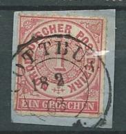 Conf. De L'allemagne Du Nord   Yvert N°  4  Oblitéré  Sur Fragment   - Cw 24007 - North German Conf.
