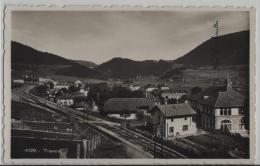 Travers - La Gare - Photo: Societe Graphique - NE Neuchatel