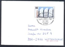 Germany Deutschland 1983 Cover: Lion Löwe; Coat Of Arms Goch Cancellation; Bauhaus Stamp