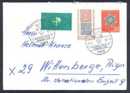Germany Deutschland 1968 Cover: Lion Löwe; Remscheid Cancellation; Eligion Katolisher Tag Taube Dove Colombe  Stamp
