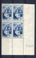 1781 - FRANCE  N°805   18Fr  Bleu  Abbaye De Conques  Du  13.5.48      TTB