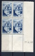 1782 - FRANCE  N°805   18Fr  Bleu  Abbaye De Conques  Du  27.4.48      TTB - Dated Corners