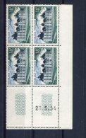 1783 - FRANCE  N°980   18Fr Vert Foncé Et Bleu - Noir   Du  20.5.54     SUPERBE